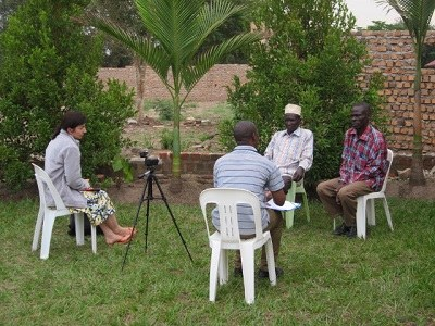 A recording session with the members of the Banyara community in Nakasongola