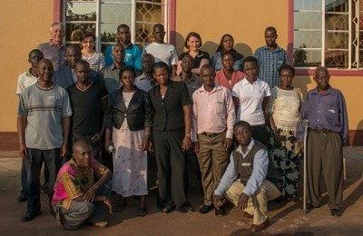 The participants of the transcribers' workshop in Kayunga